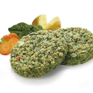 BURGER VEGETARIANO CON PATATE E SPINACI