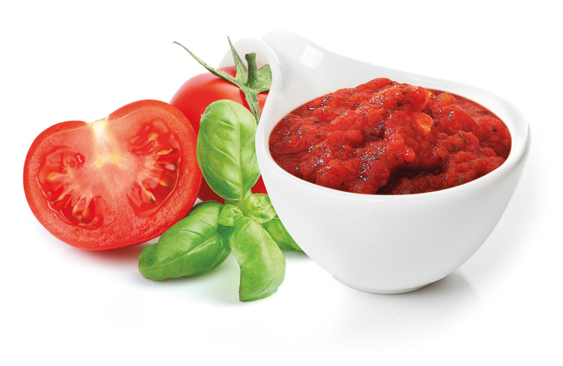 Sauce with tomato and basil